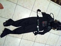 Darth Vader costume  fits boy 6 to 8 years old