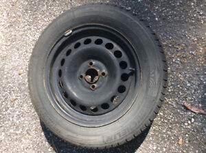 Set of Four 185 65 R15 Michelin X-Ice Winter Tires and Rims