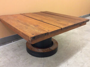 Rustic Reclaimed Square Wooden Coffee Table