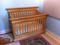 Solid Mahogany Crib/Converts to daybed/full size bed