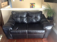 Faux leather couch and love seat