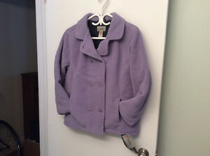 L L Bean Fleece Lined Girls Fall Jacket Size Large 14-16