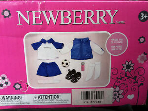 "NEWBERRY 18"" DOLL SOCCER OUTFIT NEW"