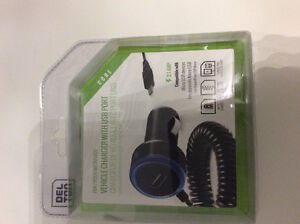 Brand new Micro USB vehicle charger with USB port