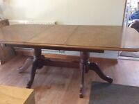 Dining room table with free chairs