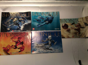 INSTRUCTION MANUALS for PC games, BIONICLE - MINT CONDITION