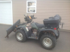 Honda foreman 450 with plow
