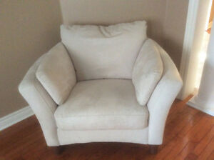 Suede sofa and chair Cambridge Kitchener Area image 3
