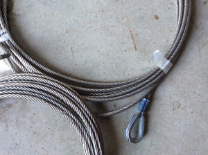 5/16 Galvenized Steel Aircraft Cable with Eyelets Windsor Region Ontario image 4