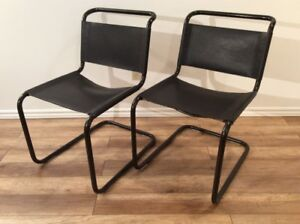 2x Marcel Breuer Style Vintage Chairs - Chaises Style M Breuer