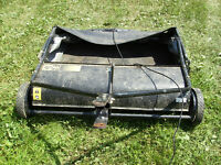 Tow Behind Lawn Sweeper / Good Condition /