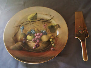 Vineyard Blessings Cake Plate and Server, by Lisa White, Pottery