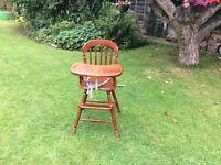 Beautiful wooden high chair