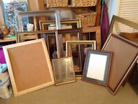 Large Selection of good quality wooden frames various sizes