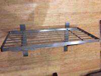Stainless steel kitchen shelf 60cm wide