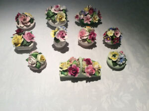 COLLECTION OF VINTAGE ENGLISH FLORAL CHINA BOUQUETS