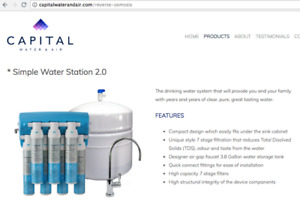 Brand New! 2.0 Reverse Osmosis Water Filtration Drinking Station