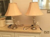 Pair of Laura Ashley side lamps.