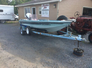 Bass boat Ranger 17''And matching trailer ,served,110 hp,$5500.0
