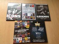 5 CLASSIC ROCK DVD's