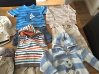 Large bundle of boys clothes 12-18 months