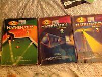 Gcse olevel Maths text books pack of three (D-series)