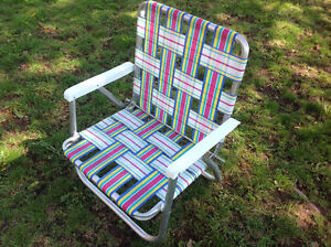ADULT FOLDING ARM CHAIR - LIKE NEW CONDITION USED ONCE