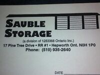 SAUBLE STORAGE - REASONABLE RATES, 8 SIZES !