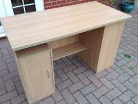Desk and pedestals