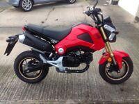 Honda msx 125 grom 2013 low miles only 2377