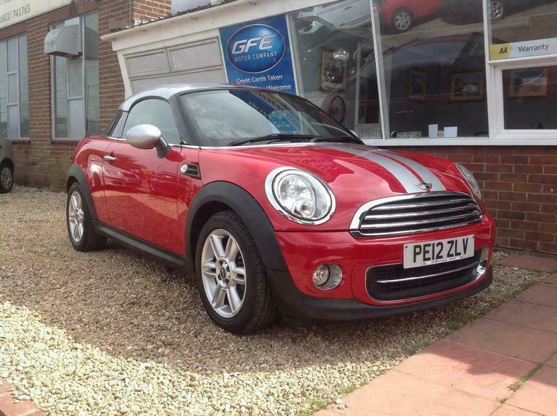 2012 12 Mini Cooper Coupe Finance And Part Ex In Norwich