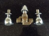 AQUALISA DIVERTER VALVE AND TWO CHROME AQUAJETS. WITH FITTING INSTRUCTIONS.