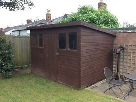 SHED (LARGE) 10' x 8', PENT ROOF 7' sloping to 6' (with guttering)