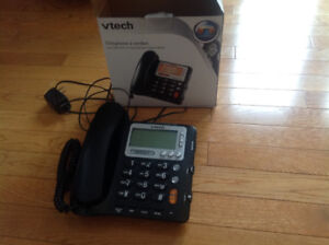V tech corded telephone with caller id and speakerphone