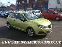 2009 (09 Reg) SEAT Ibiza SC 1.2 12v 70PS S A/C 3DR Hatchback YELLOW + LOW MILES