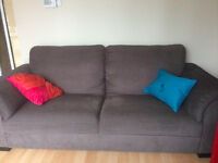 Comfortable grey brown couch