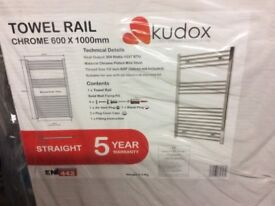 Towel radiator chrome 600x1000 kudos new