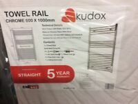 Towel radiator chrome 600x1000 kudos new
