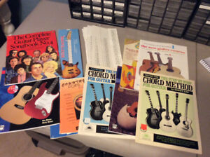 Lot of 9 Guitar Books