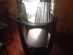 Dining/Bistro Round Glass Table