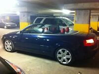 audi s4 2005 cabriolet..... cuir rouge