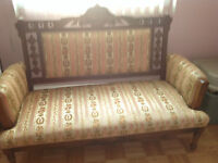 Victorian Antique Love Seat and Chairs