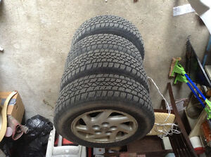 205/65/R15 Arctic Claw Winter Tires with 5 bolt Rims