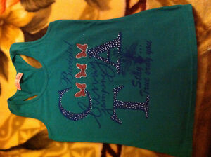 Green Tank with Bead and Writing Kitchener / Waterloo Kitchener Area image 1