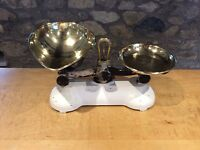 Traditional kitchen balance weighing scales