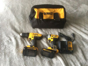 Dewalt 20 volt plus drill and driver set