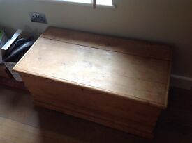 Victorian pine blanket box REDUCED PRICE