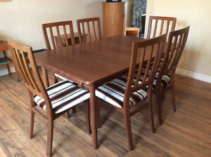 Vintage Teak Dining set and Hutch