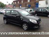 2010 (10 Reg) Chevrolet Aveo 1.2 S 3DR Hatchback BLACK + 1 OWNER