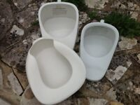 Slipper bed pans China antique. Planters?